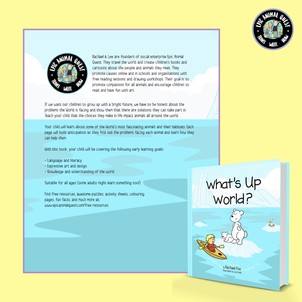 What's Up World? - Vegan Kids Book - Epic Animal Quest